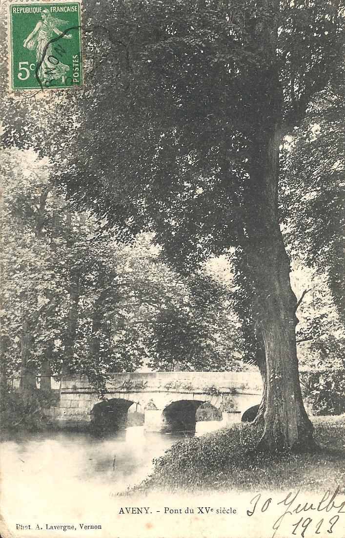 Pont d'Aveny en 1913