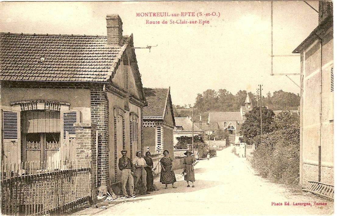 Route de St Clair, rue St Denis'