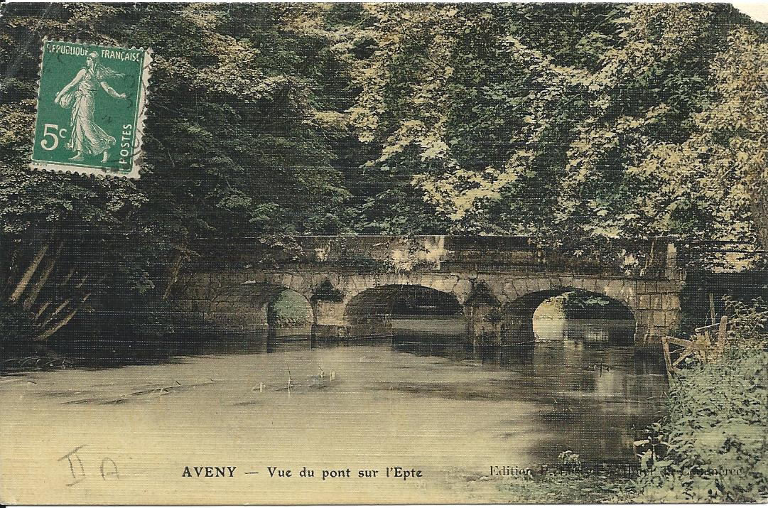 Pont d'Aveny en 1914