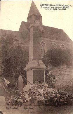 Inauguration Monument aux Morts 19 juin 1921