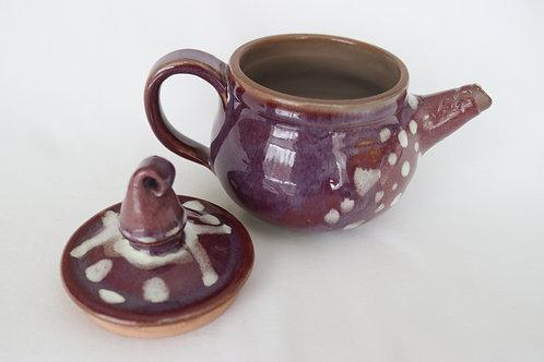 Burgendy Tea Pot