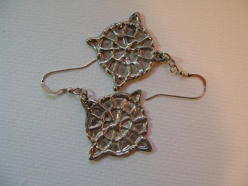 Silver Spoke Earrings