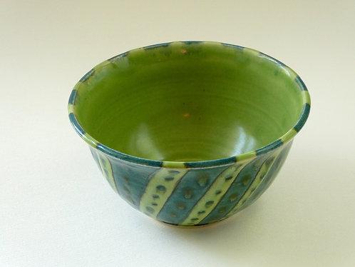 Mr. Green Stripes bowl