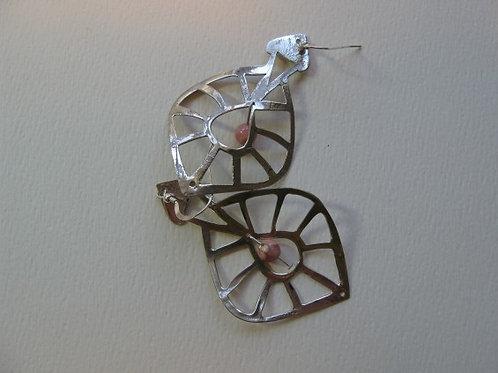 Silver Pierced Dangle Earrings