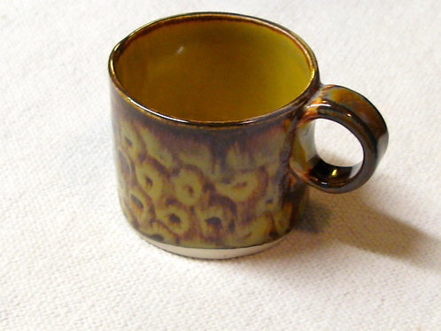 Handbuilt fish-scale mug
