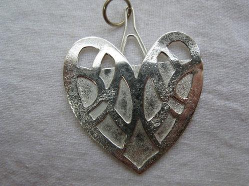 Silver Heart Lace Pendant