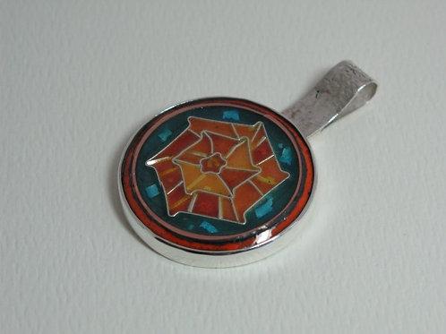Amber Wheel Pendant