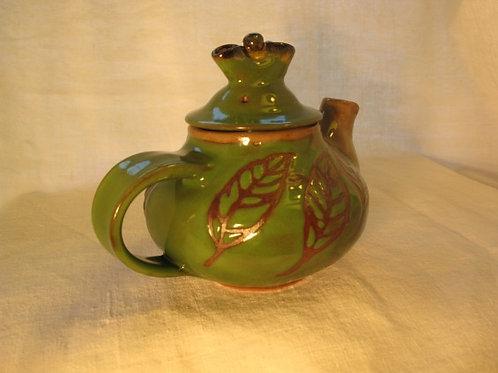 Green Leaf Tea Pot