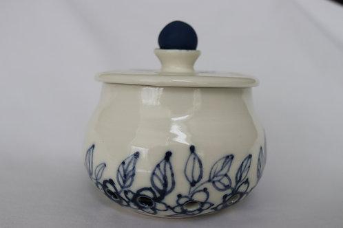 Leafy Blues Garlic Jar