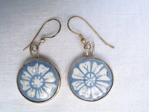 Blue Cornflower Earrings