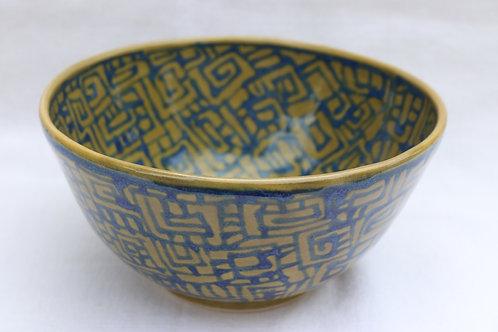 Olive Blue Salad Bowl