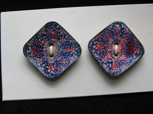 """Mix It Up...enamelled buttons...1"""" square...set of 6"""