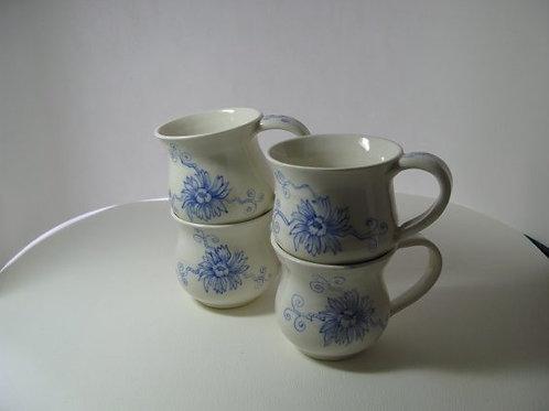 Blue Floral Tea Cups