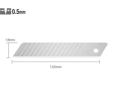 OLFA LBD-50 Geniş Maket Bıçağı Yedeği 14 Kırımlı