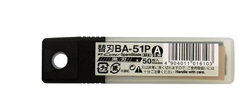 NT CUTTER BA-51P Dar Siyah Maket Bıçağı Yedeği 50'li