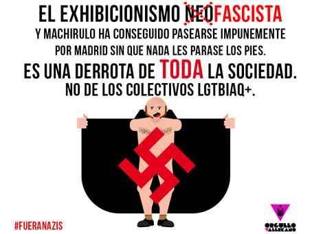Nazis en Madrid, derrota social.