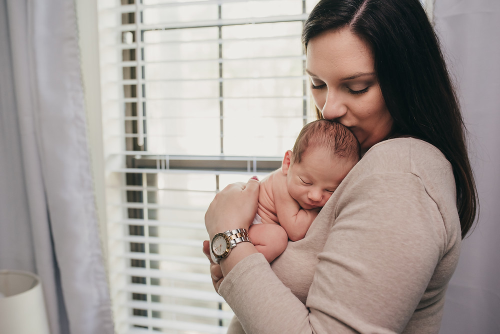 Tallahassee in-home lifestyle newborn photography session