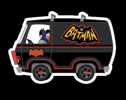 Mystery Machine Batman Sticker
