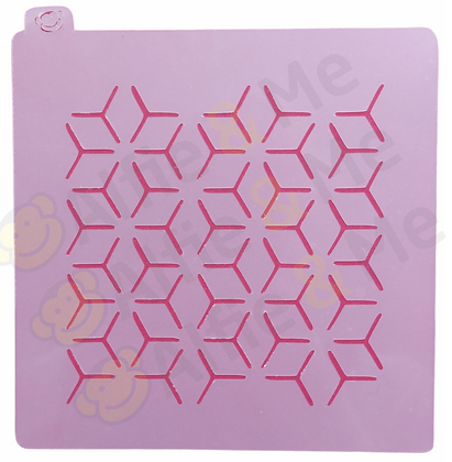 Cubes Stencil - for cookies, cakes, art projects