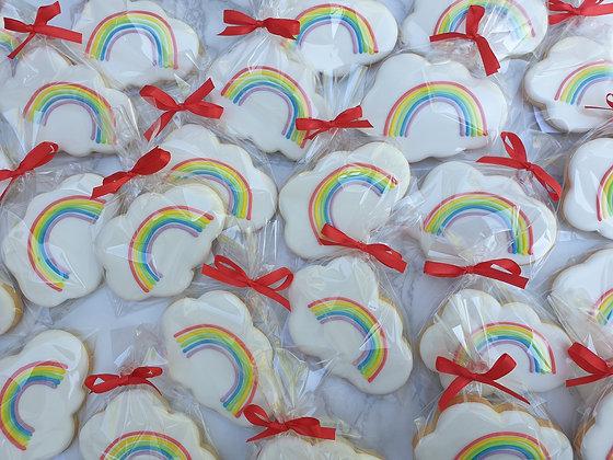 Rainbow Cloud Biscuits