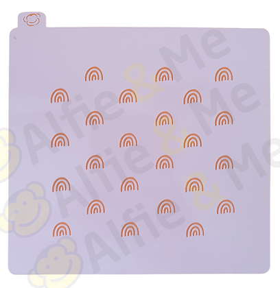 Rainbows Stencil - for cookies, cakes, art projects