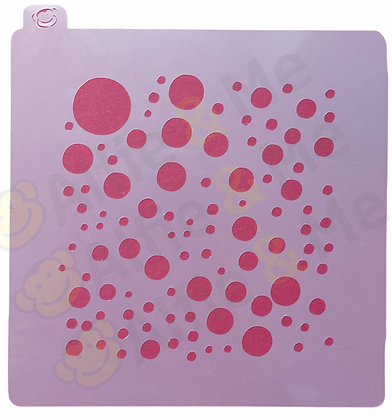Bubbles Stencil - for cookies, cakes, art projects