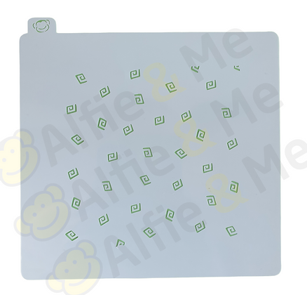 Angled Squiggles Stencil - for cookies, cakes, art projects