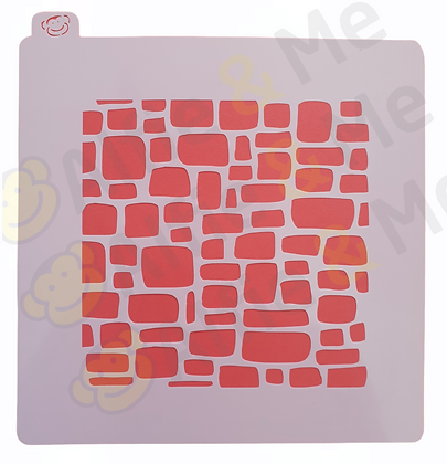 StoneWall Stencil - for cookies, cakes, art projects