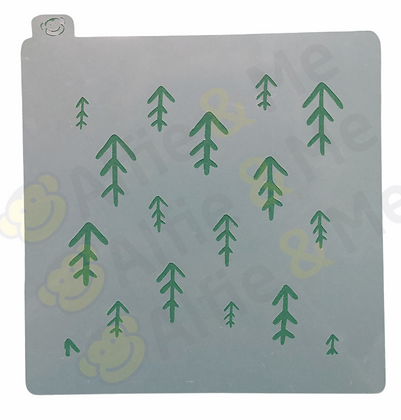 Woodland Stencil - for cookies, cakes, art projects