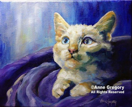 Dreamy Kitten painting