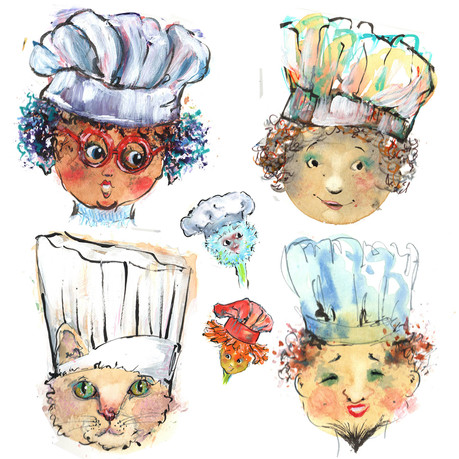 Little Chefs - Character Sketch