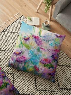 Fairy Flowers Floor Pillow