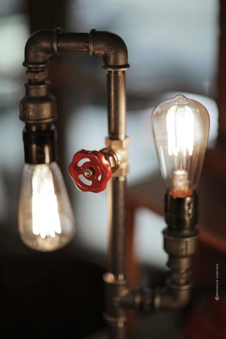 lampe industrille et recyclée Monsieur Fabrique