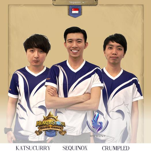 HEARTHSTONE GLOBAL GAMES 2018 SINGAPORE REPRESENTATIVES