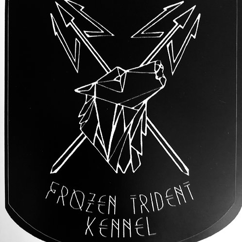 Black and white FTK sticker