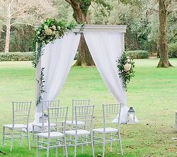 White Elegant Wood Arbor .JPG