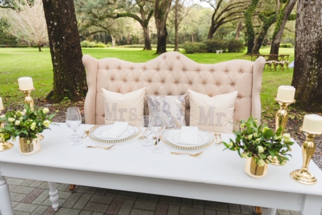 Sweetheart Table with Bench