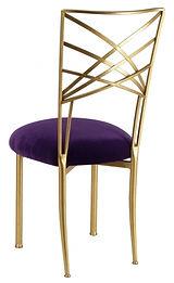 Gold+Chameleon+Chair+with+eggplant+velve