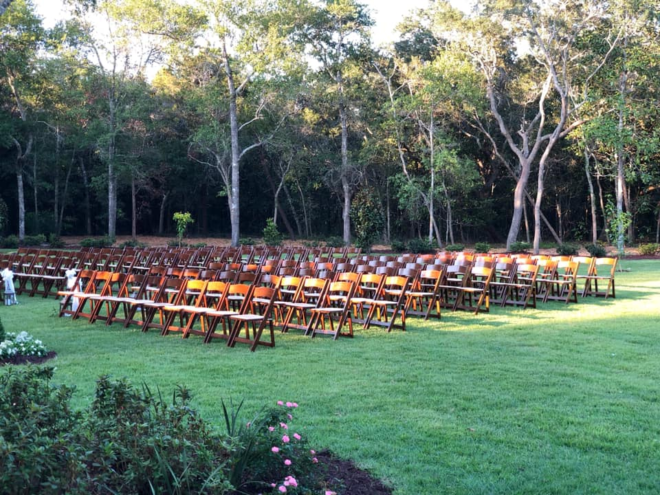 Mansion Wedding Ceremony Chairs