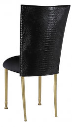 Gold+Chameleon+Chair+with+black+croc+cus