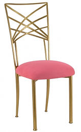 Gold+Chameleon+Chair+with+raspberry+sued