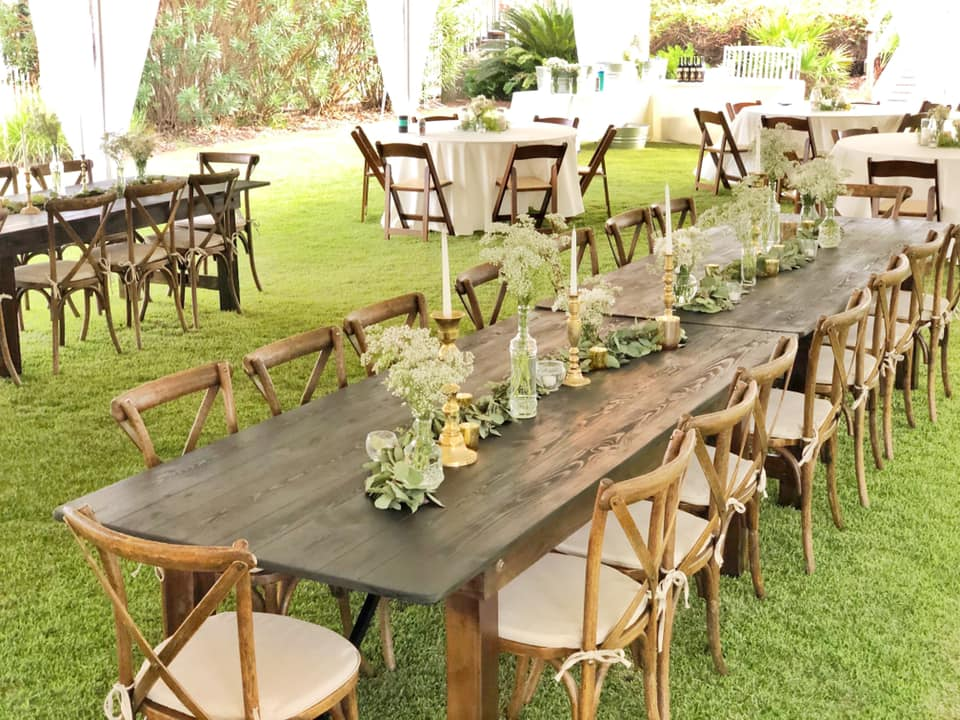 Farm Tables Tent