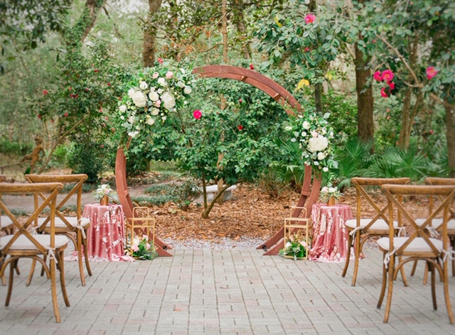 Circular Wooden Ceremony Arbor