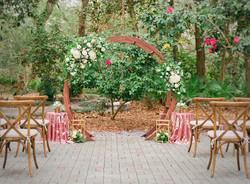 Circular Wooden Ceremony Arbor