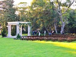 Mansion Wedding Sunset