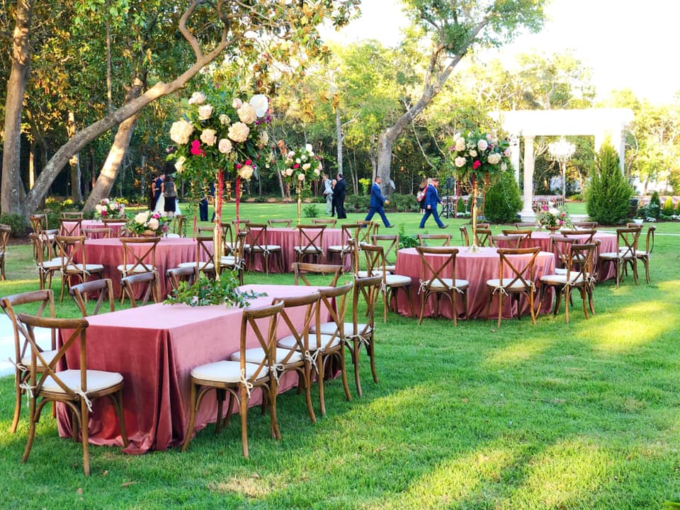 Mansion Wedding Reception Setup
