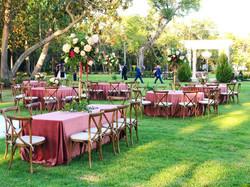 Mansion Wedding Reception Setup