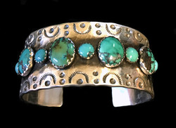 Detailed Turquoise Cuff