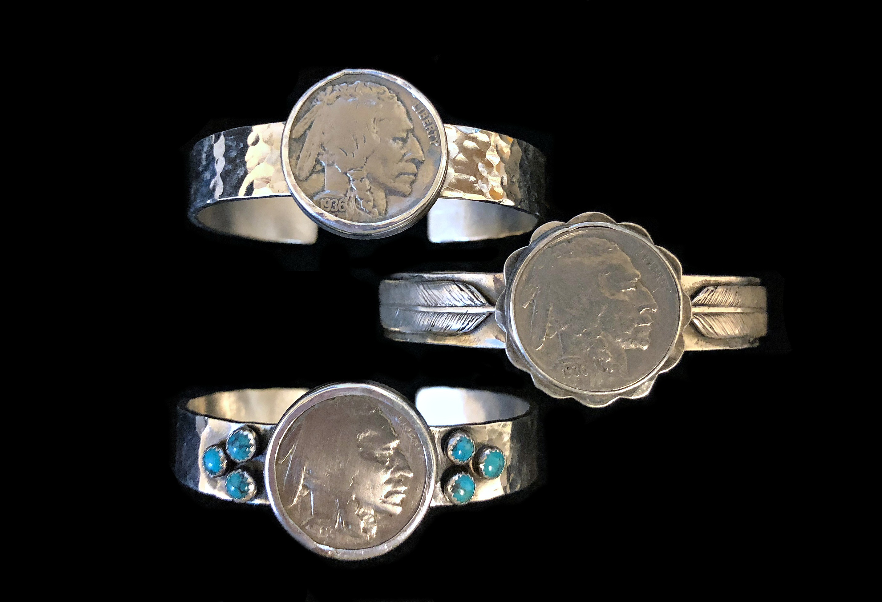 Indian Chief Coin Cuffs