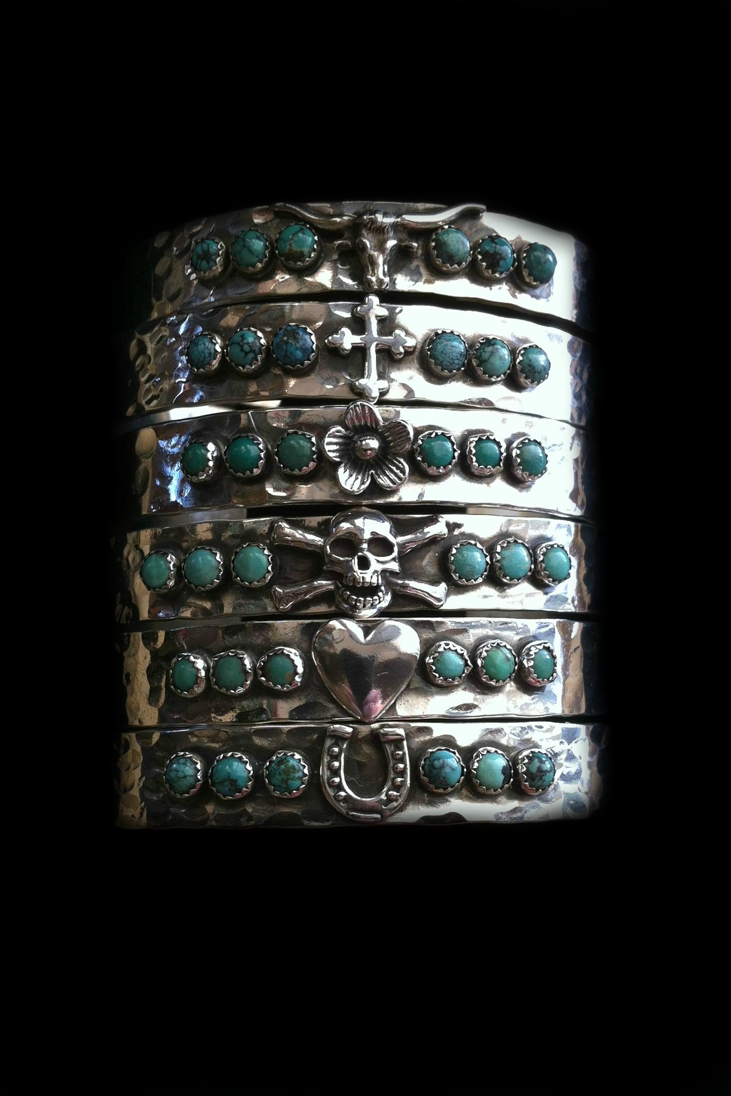 6 Stone Stack Cuffs